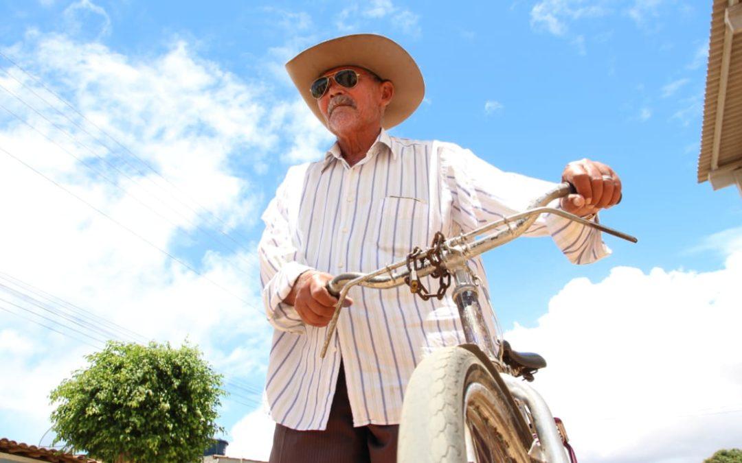 Em Arapiraca, ancião de 93 anos ainda é amante do ciclismo